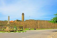 Torn för klocka för Galle fort` s Anthonis - arv för Sri Lanka UNESCOvärld Fotografering för Bildbyråer