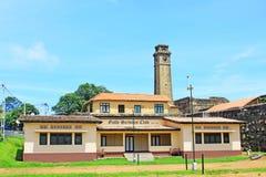 Torn för klocka för Galle fort` s Anthonis - arv för Sri Lanka UNESCOvärld Royaltyfria Bilder