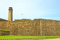 Torn för klocka för Galle fort` s Anthonis - arv för Sri Lanka UNESCOvärld Royaltyfri Bild