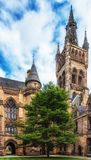 Torn för klocka för Glasgow University ` s Arkivbild