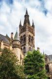 Torn för klocka för Glasgow University ` s Royaltyfri Bild