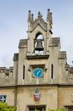 torn för klockacambridge christ högskola s Fotografering för Bildbyråer