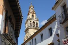 torn för klockacordoba moské Royaltyfri Fotografi