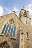 torn för klockakristenkyrka Arkivfoto