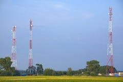 torn för kommunikation tre Arkivfoton