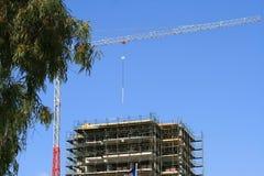 torn för konstruktionskranlokal arkivbilder