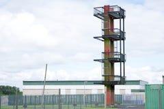 Torn för kurs för anfall för brandutbildningsövning för brandman royaltyfri fotografi