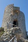 Torn för Mallorcan kustobservation Arkivfoton