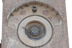 Torn för Mantova —klocka arkivfoton