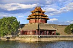 torn för port för beijing porslin stad förbjudit Arkivfoton