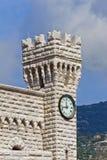 torn för prince s för klockamonaco slott Royaltyfria Bilder