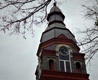 Torn för Pulaski County domstolsbyggnadklocka fotografering för bildbyråer