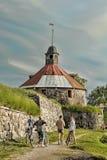 Torn för runda (Pugachev) Korela Priosersk Ryssland Arkivbilder