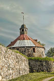 Torn för runda (Pugachev) Korela Priosersk Ryssland Royaltyfria Foton