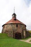 Torn för runda (Pugachev) Korela Priosersk Ryssland Royaltyfri Fotografi