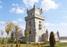 torn för scale för belem europamadrid park royaltyfria foton