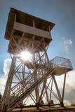 Torn för siktspunkt på Poonhill 3.210 M , Nepal med sunlig Arkivbilder