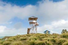 Torn för siktspunkt på Poonhill 3.210 M torn Nepal Fotografering för Bildbyråer