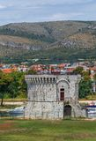 Torn för St Mark ` s i Trogir, Kroatien Royaltyfria Foton