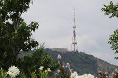 Torn för Tbilisi TVradioutsändning i Georgia arkivbilder
