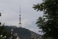Torn för Tbilisi TVradioutsändning i Georgia fotografering för bildbyråer