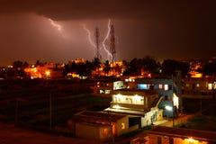 torn för telekommunikationar för blixtslag Arkivbilder