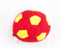 Torn fabric football, a toy for dog Royalty Free Stock Images