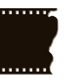 Torn Film Strip (Right). Torn film strip on right Black on white Royalty Free Stock Photography