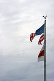 Torn Flag. The United States of America flag torn by the winds of Hurricane Ike Royalty Free Stock Photography