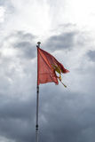 Torn Flag on must Royalty Free Stock Photography