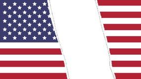 Torn flag. Of USA - vector illustration Stock Photos