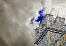 Torn för slott för Watchtowerfästningfort Royaltyfri Fotografi
