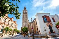 Torn Giralda, domkyrka i Seville Royaltyfri Foto
