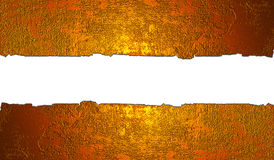 Torn golden wall Royalty Free Stock Image