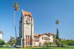 Torn Hall och Washington Square på San Jose State University arkivbilder
