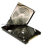Torn hard disk Royalty Free Stock Photos