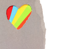 Torn heart in paper Stock Image