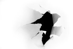 Torn hole Stock Photography