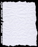Torn Hole Punched Writing Paper Stock Image