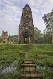 Torn i Angkor Thom Arkivfoton