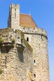 Torn i den medeltida staden av Carcassonne Arkivbilder