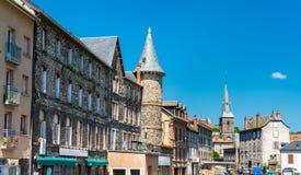 Torn i Helgon-mjöl, en stad i centrala Frankrike royaltyfri foto