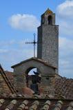 Torn i San Gimignano, Tuscany Arkivbild