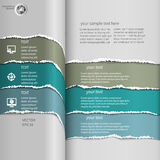 Torn infographics Blue Royalty Free Stock Photography