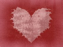 Torn Jagged Pink Heart Texture Stock Photo