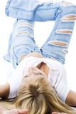 Torn jeans Stock Photography