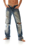 Torn jeans Stock Photos