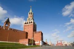 torn klockakremlin moscow för röd fyrkant Royaltyfri Bild
