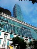 101 torn, kommersiell byggnad, Taipei Taiwan Arkivfoton