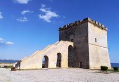 Torn Lapillo nära Porto Cesareo i Salento italy Arkivbilder